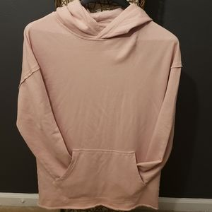 100% Pink Cotton Hoodie